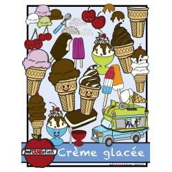 Cliparts - Crème glacée
