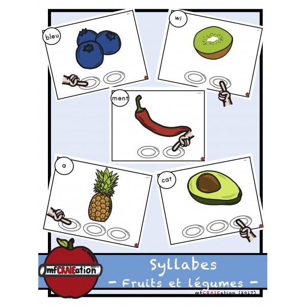 Fruits et légumes - Localisation de syllabes