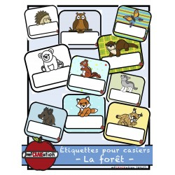 Forêt - Étiquettes pour identifier les casiers