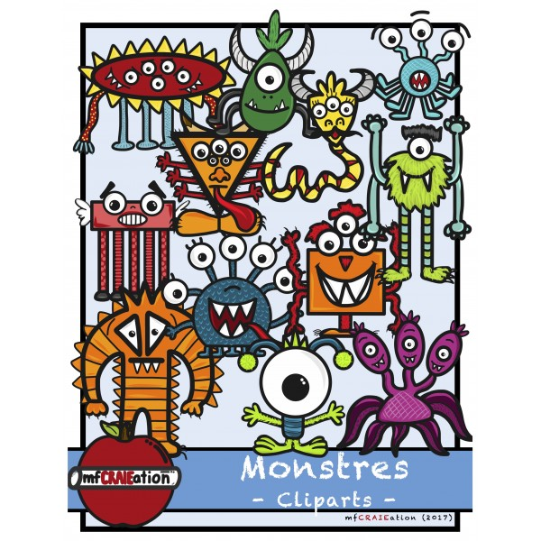 Cliparts - Monstres