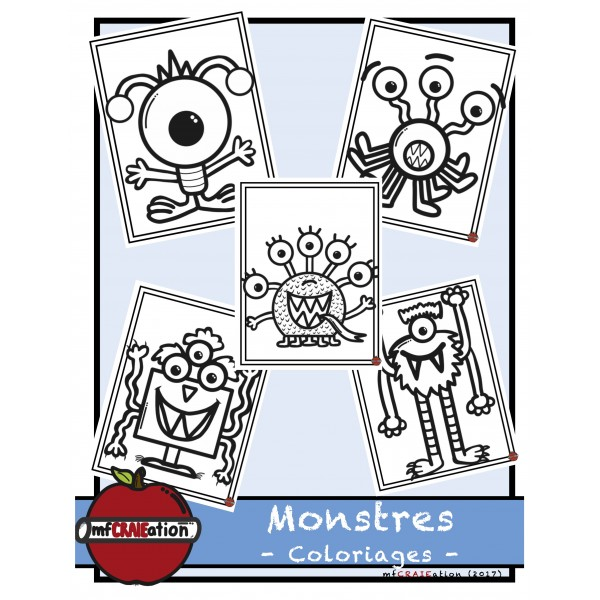 Coloriages - Monstres