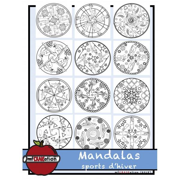 Mandalas - Sports d'hiver