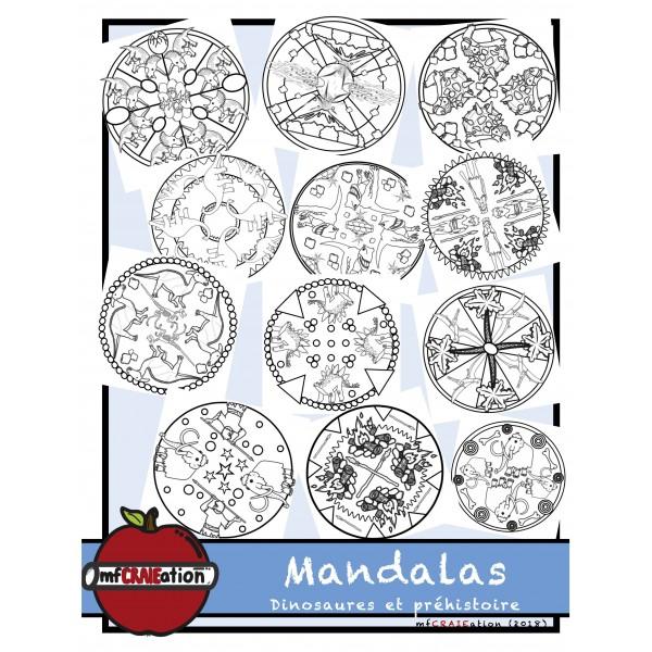 Mandalas - Dinosaures et préhistoire
