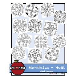 Mandalas de Noël - ANIMAUX