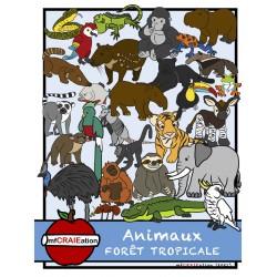 Cliparts - Animaux de la forêt tropicale