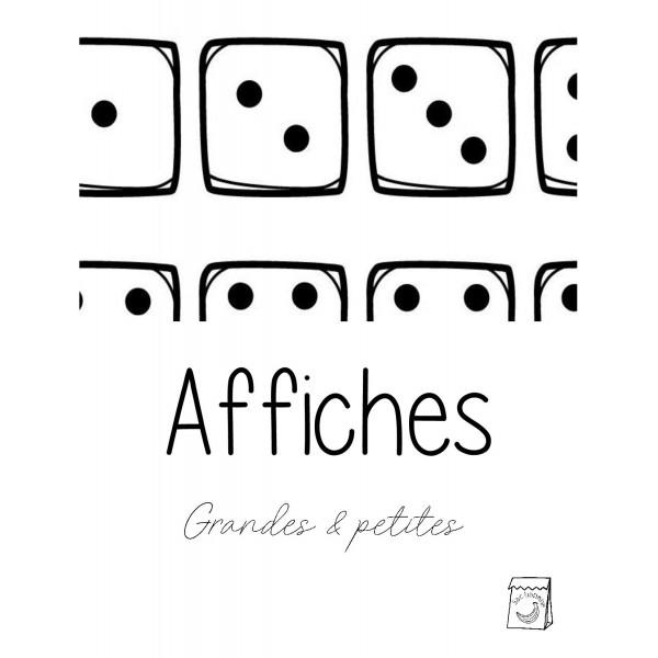 Affiches de dés (Mathématique)