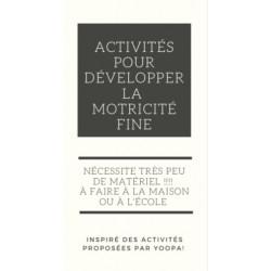 Activités de motricité fine