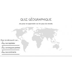Quizz géographique