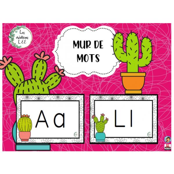 Mur de mots-cactus