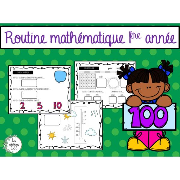 Routine mathématique-1ère année