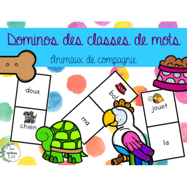Dominos classes de mots-animaux compagnie