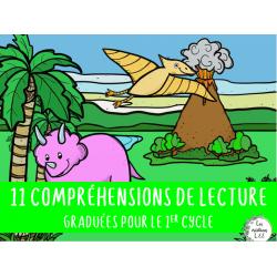 11 compréhensions graduées-Dinosaures