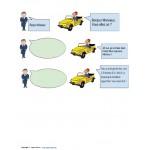 Dialogue à compléter - Dans le taxi