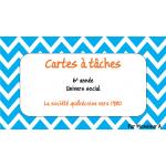 Cartes à tâches - La société québécoise vers 1980
