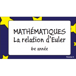 Cartes à tâches - Relation d'Euler