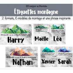 Étiquettes montagne