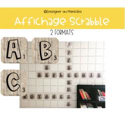 Affichage Scrabble