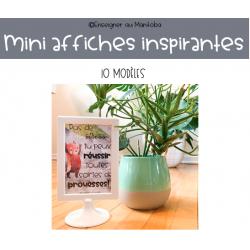 Mini affiches inspirantes