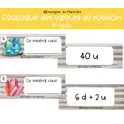 Géologue des valeurs de position - 1er cycle