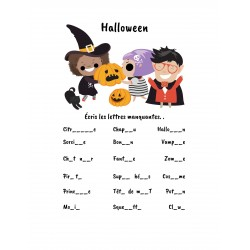 Halloween - Lettres manquantes