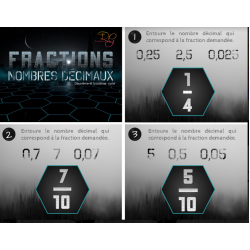 [CAT] Fractions et nombres décimaux