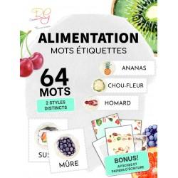 [MOTS ÉTIQUETTES] ALIMENTATION