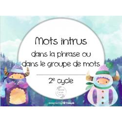CAT - Les mots intrus