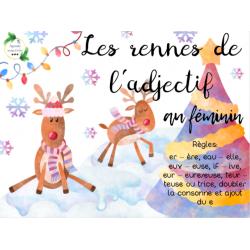 CAT - Les rennes de l'adjectifs au féminin