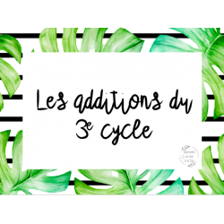 CAT - Les additions du 3e cycle