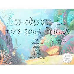 Les classes de mots sous la mer - 3e cycle