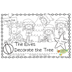 Christmas Book, Elves Decorate the Tree