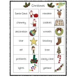 Christmas Vocabulary Set