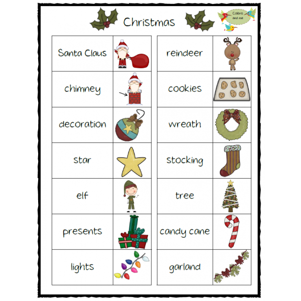 Christmas Vocabulary Set