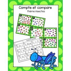 Compte et compare - insectes