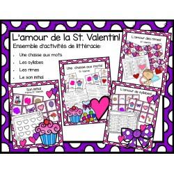 Ensemble activités de littératie St. Valentin