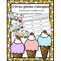 Crèmes glacées mélangées !