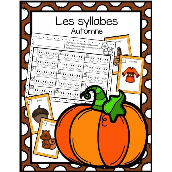 Les syllabes - thème de l'automne