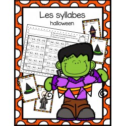 Les syllabes - thème de l'halloween
