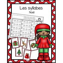 Les syllabes - thème de Noël