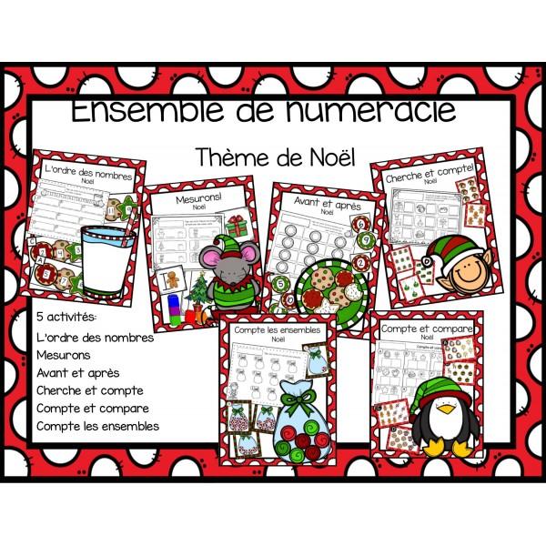 Ensemble de mathé - Noël