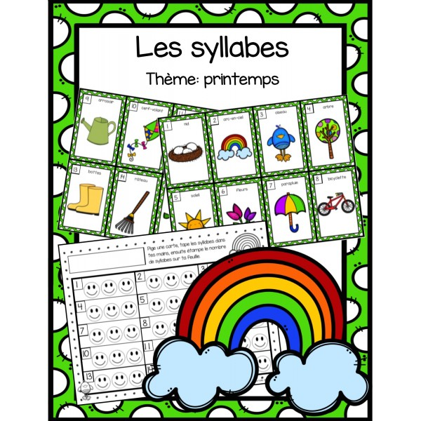 Les syllabes - printemps