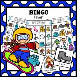 Bingo - thème de l'hiver