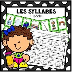 Les syllabes - thème de l'école