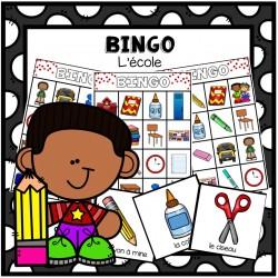 Bingo - thème de l'école
