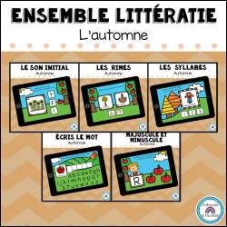 Ensemble CARTES BOOM littératie - Automne