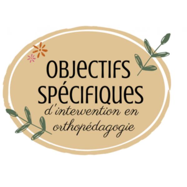 Objectifs spécifiques d'intervention