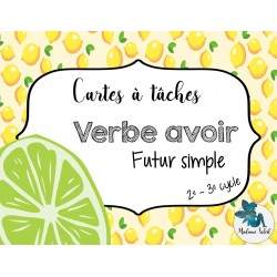 Verbe Avoir, futur simple - Cartes à tâches
