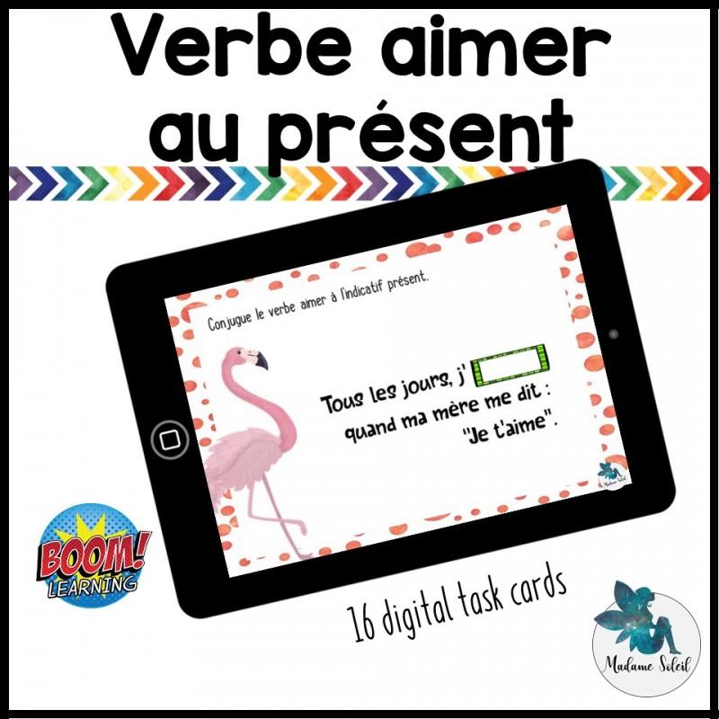Verbe Aimer A L Indicatif Present Boom Cards