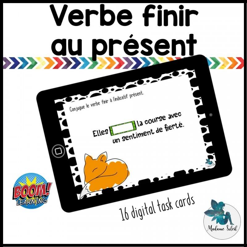 Verbe Finir A L Indicatif Present Boom Cards
