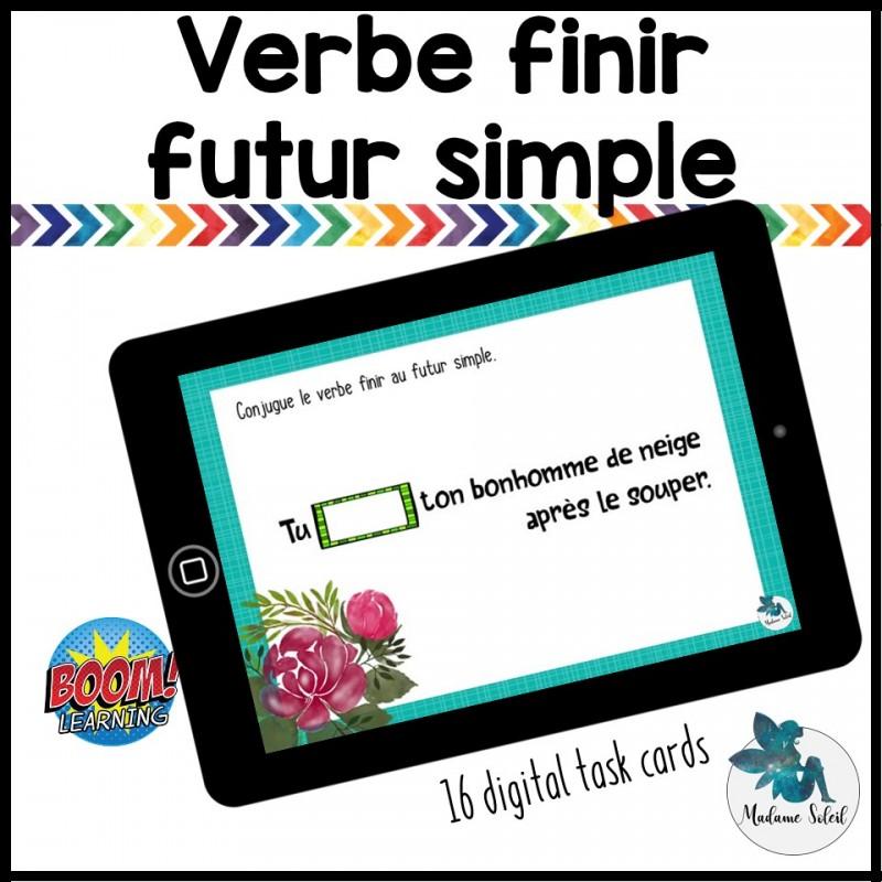 Verbe Finir Au Futur Simple Boom Cards